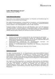 Leiter Mikrobiologie (m/w)* - Mediatum