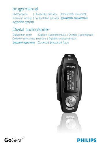 Philips GoGear Baladeur audio à mémoire flash - Mode d'emploi - DAN