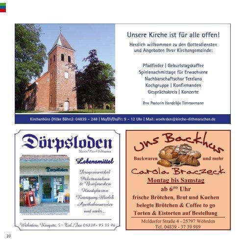 Wissens- & Sehenswertes der Gemeinde Wöhrden