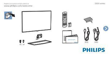 Philips 5500 series Téléviseur LED plat Full HD avec Android™ - Guide de mise en route - KAZ