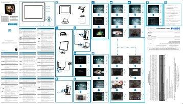 Philips Album photo numérique - Guide de mise en route - POR