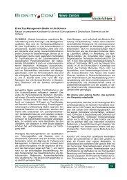 Erste Top-Management-Studie in Life Science
