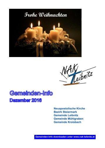 Gemeinden-Info Dezember 2016