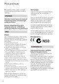 Sony DCR-SX15E - DCR-SX15E Istruzioni per l'uso Serbo - Page 2
