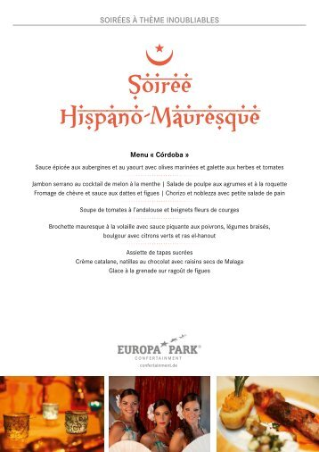 Soiree hispano-mauresque Brochure FR Europa-Park