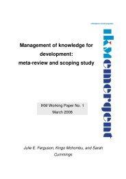 Management of knowledge for development: meta ... - Imam Content
