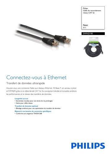 Philips Câble de raccordement réseau CAT 5e - Fiche Produit - FRA