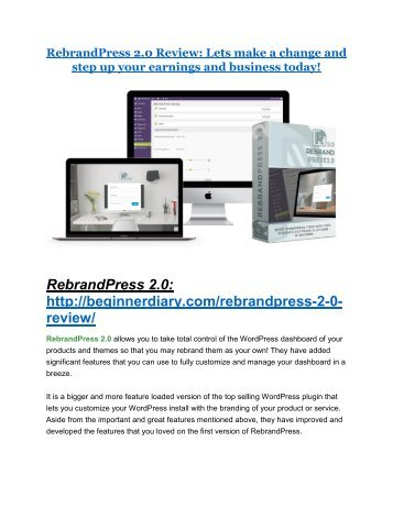 RebrandPress 2.0 review-- RebrandPress 2.0 (SECRET) bonuses