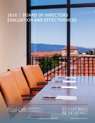 2016   BOARD OF DIRECTORS EVALUATION AND EFFECTIVENESS