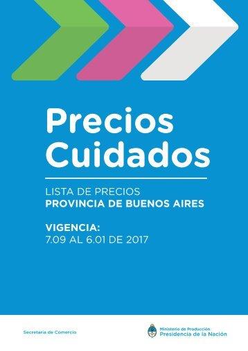 LISTA DE PRECIOS PROVINCIA DE BUENOS AIRES VIGENCIA 7.09 AL 6.01 DE 2017