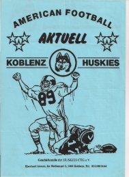 Koblenz Huskies Spielerliste 1989