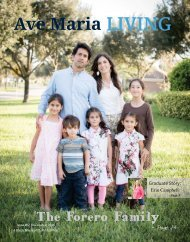 Ave Maria Living Magazine | Issue #4 | Dec. 2016