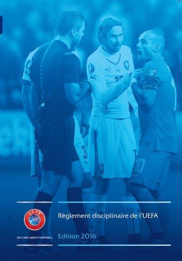 Règlement disciplinaire de l'UEFA Edition 2016