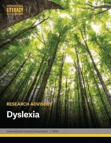 the international dyslexia association essay International literacy association: literacy research panel dyslexia [research advisory] newark, de: author about the international literacy association.