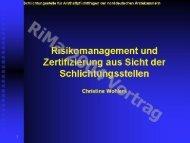 Risikomanagement und Zertifizierung aus Sicht der ...