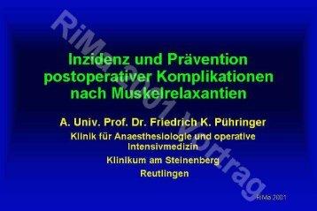 Inzidenz von postoperativen respiratorischen Komplikationen nach ...