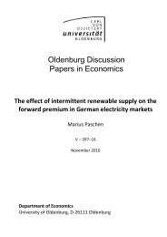 Oldenburg Discussion Papers in Economics