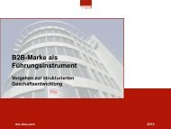 B2B-Marke als Führungsinstrument - m/e brand communication