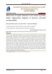Effectiveness of organic substances in the control of powdery mildew (Sphaerotheca fuligenia) of butternut (Cucurbita moschata PEPO) - IJAAR