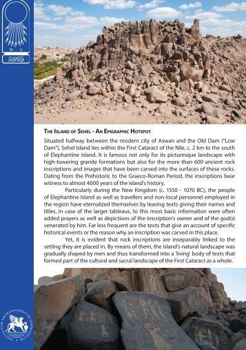 The Island Sehel - An Epigraphic Hotspot