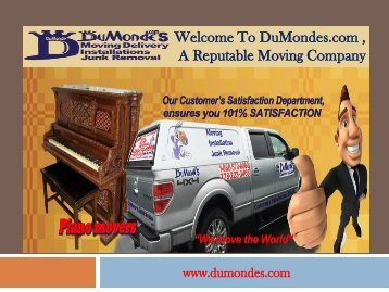 Moving Delivery Vancouver |Du Monde Moving