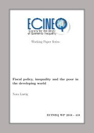 Fiscal policy inequality and the poor in the developing world Nora Lustig