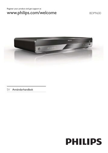 Philips 9000 series Lecteur de disques Blu-ray - Mode d'emploi - SWE