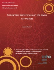 Consumers preferences on the Swiss car market