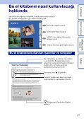 Sony DSC-WX1 - DSC-WX1 Istruzioni per l'uso Turco - Page 2