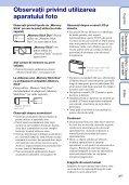Sony DSC-WX1 - DSC-WX1 Istruzioni per l'uso Rumeno - Page 3