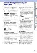 Sony DSC-WX1 - DSC-WX1 Istruzioni per l'uso Danese - Page 3