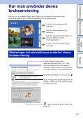 Sony DSC-WX1 - DSC-WX1 Istruzioni per l'uso Svedese - Page 2