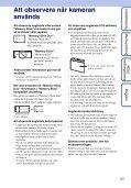 Sony DSC-WX1 - DSC-WX1 Istruzioni per l'uso Svedese - Page 3