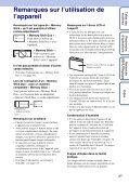 Sony DSC-WX1 - DSC-WX1 Istruzioni per l'uso Francese - Page 3