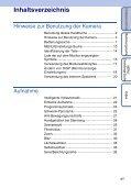 Sony DSC-WX1 - DSC-WX1 Istruzioni per l'uso Tedesco - Page 4