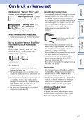 Sony DSC-WX1 - DSC-WX1 Istruzioni per l'uso Norvegese - Page 3