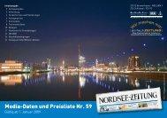 Media-Daten und Preisliste Nr. 59 - Nordsee-Zeitung