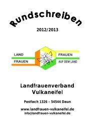 Rundschreiben - Landfrauenverband Daun