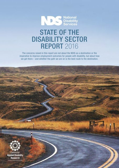 STATE OF THE DISABILITY SECTOR REPORT 2016