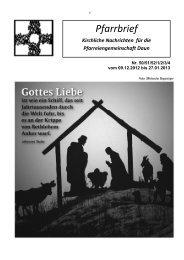Pfarrbrief - Pastoraler Raum Daun