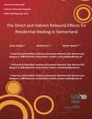 The Direct and Indirect Rebound Effects for Residential Heating in Switzerland