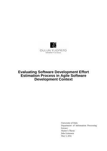 Estimation Process in Agile Software Development Context
