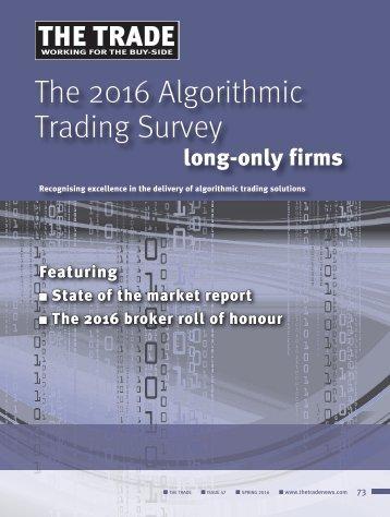 The 2016 Algorithmic Trading Survey
