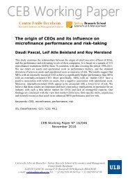 CEB Working Paper