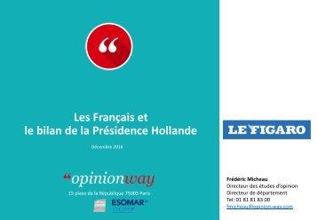 Les Français et le bilan de la Présidence Hollande