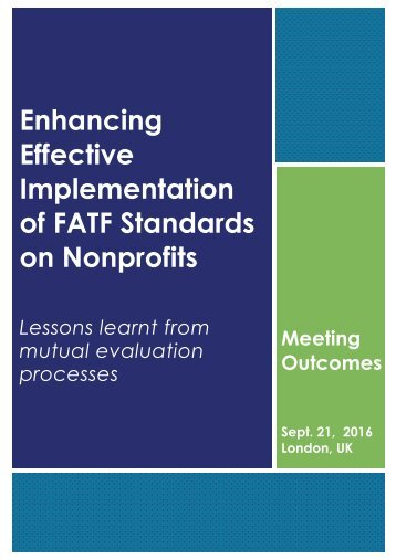 of FATF Standards on Nonprofits