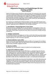 Allgemeine Hinweise und Empfehlungen für den Umstieg auf SEPA