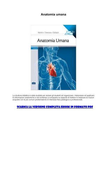 [ SCARICA ] Anatomia umana PDF