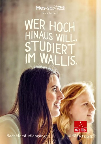 Studieren im Wallis / HES-SO - D