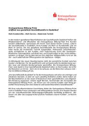 Neugestaltung der Geschäftsstelle Dudeldorf - Kreissparkasse ...